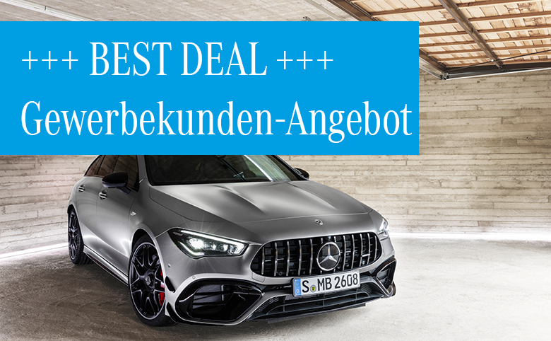Best Deals im Dezember für Gewerbekunden: Mercedes-AMG CLA 45 S 4MATIC+ Shooting Brakeab 475,– € mtl.