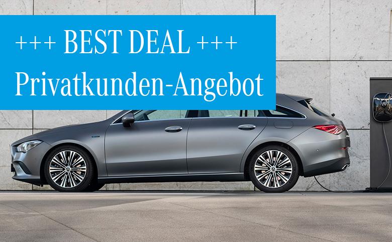Best Deals im Dezember für Privatkunden: Mercedes-Benz CLA 250e Shooting Brake Plug-in-Hybrid ab 349 €/Monat