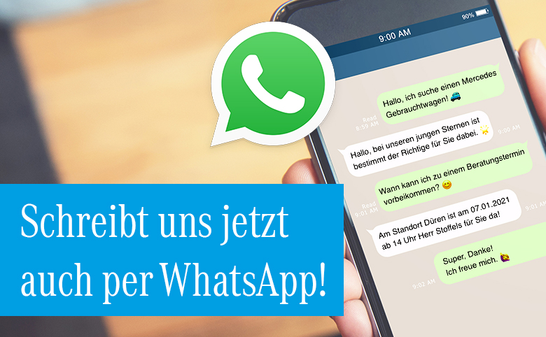 Autohaus Herten jetzt auch per WhatsApp erreichbar