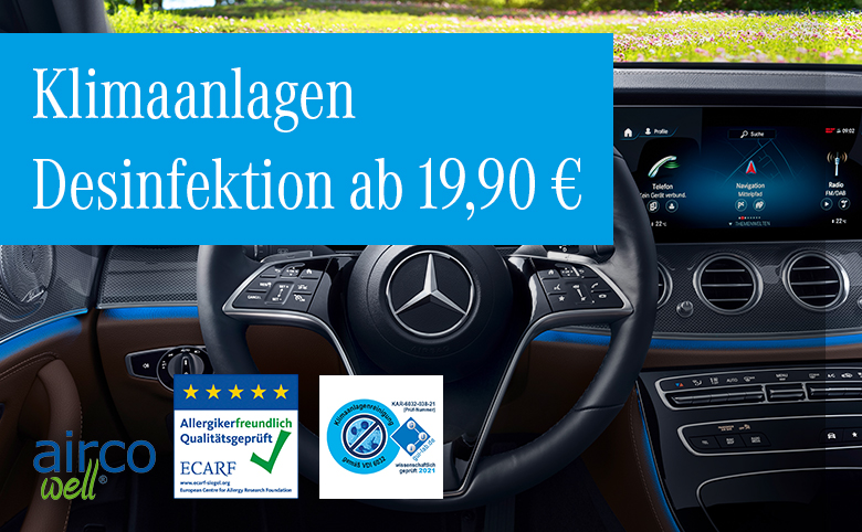 Serviceaktion im April: Klimaanlagen Desinfektion ab 19,90 €